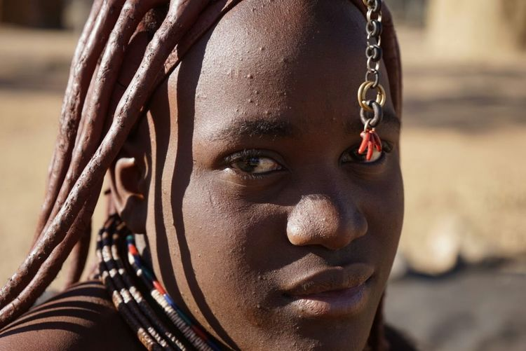 Close-Up Portrait Of Himba Woman