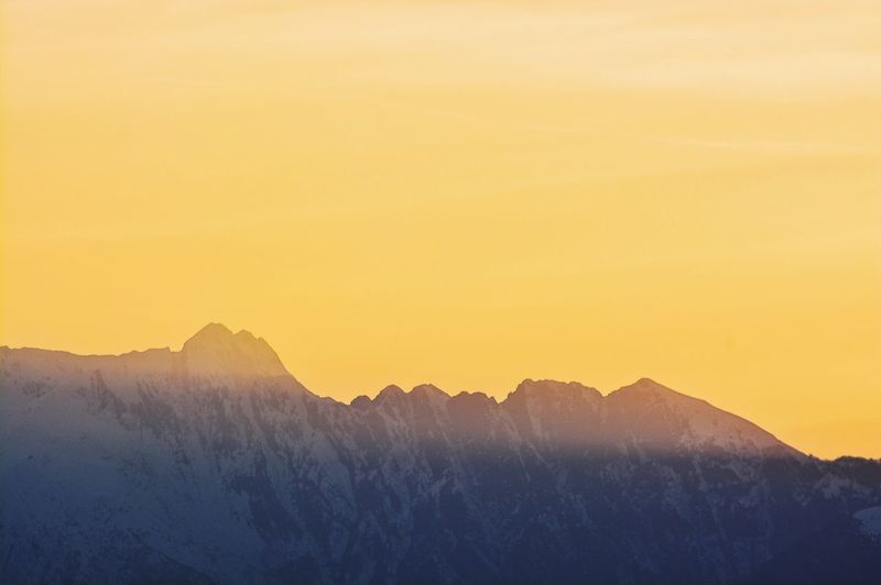 Sunset Sunset Sky Copy Space Nature Silhouette Beauty In Nature No People Outdoors Mountain Clear Sky