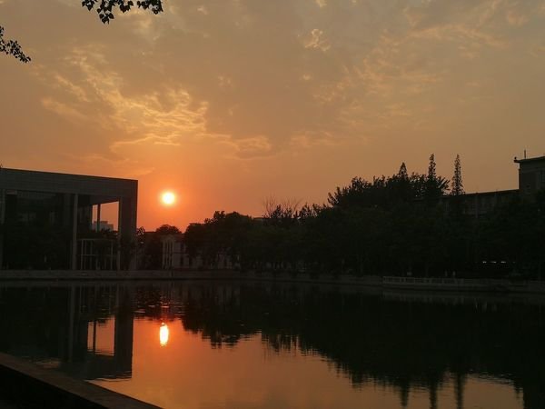 南开大学的黄昏Sunset Night Architecture Sky No People Outdoors