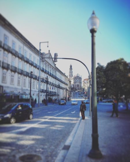 Street of Porto. Autumn Church Old Street Lamp Porto Portugal Street Lamp Architecture Building Exterior Built Structure City Citylife Day Old Streets Outdoors Road Sky Street Streets Of Porto Transportation Walking