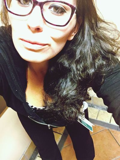 Hello 😍 Headshot Selfie✌ Working Workselfie ThatsMe Goofing Off Love ♥ Self Portrait Today's Hot Look Weirdangle IPhoneography Smile Thats Me  Girl Woman Selfportrait Whatdoyousee WhatDoYouThink Montana Selfie Portrait Wildhair Glasses Wednesday Humpday Hairdown