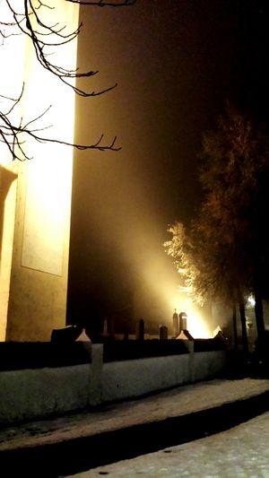 Night Lights Cold Outside Spotlight