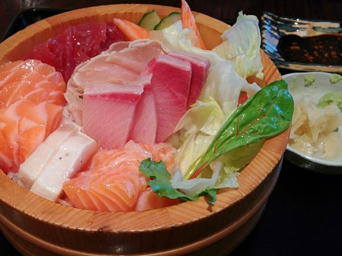 Chirashi Sashimi Bowl Dinner Lunch Japanese Food Japn Food Sashimi  Seafood Japanese  Chirashi Bowl Delicious Yammy  Asian Food Raw Fish Fish Rice Tasty Foodie Wasabi Salmon Tuna Ginger Hungry Jtown