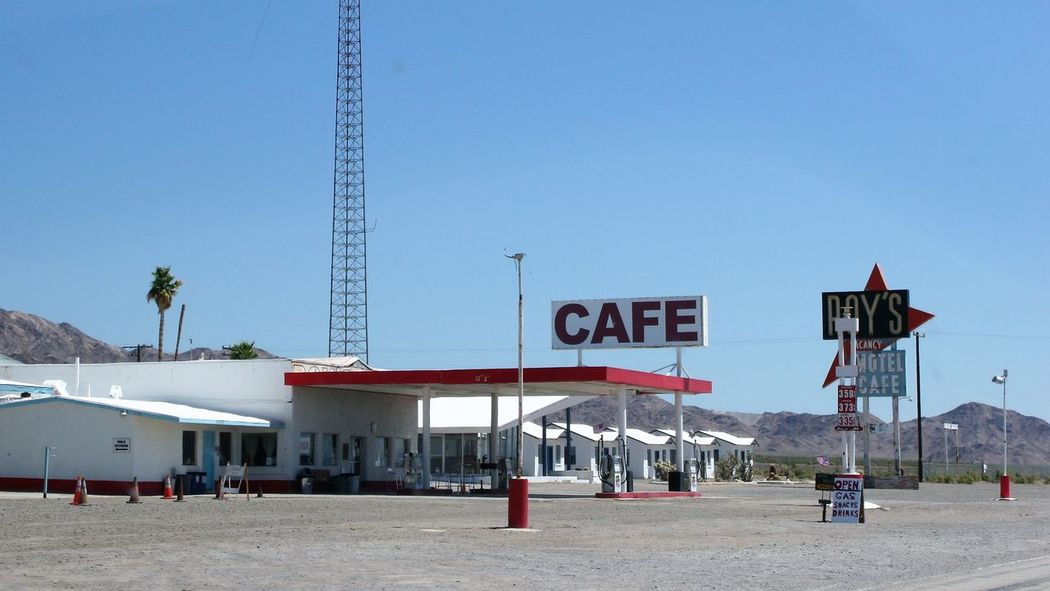 Roy's Cafe and Motel in Amboy Amboy Gas Route 66 Architecture Cafe Day Motel No People Outdoors Sky