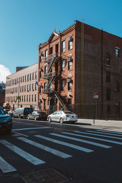 Architecture New York New York City VSCO Arch Architecture Building Exterior Built Structure Car City Clear Sky Day Land Vehicle Mode Of Transport No People Outdoors Road Sky Street Sunlight Transportation Tree Vscocam