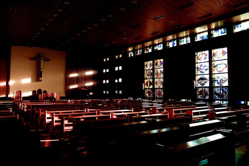 Catholic Church Indoors  Table Chair Illuminated Architecture Built Structure No People