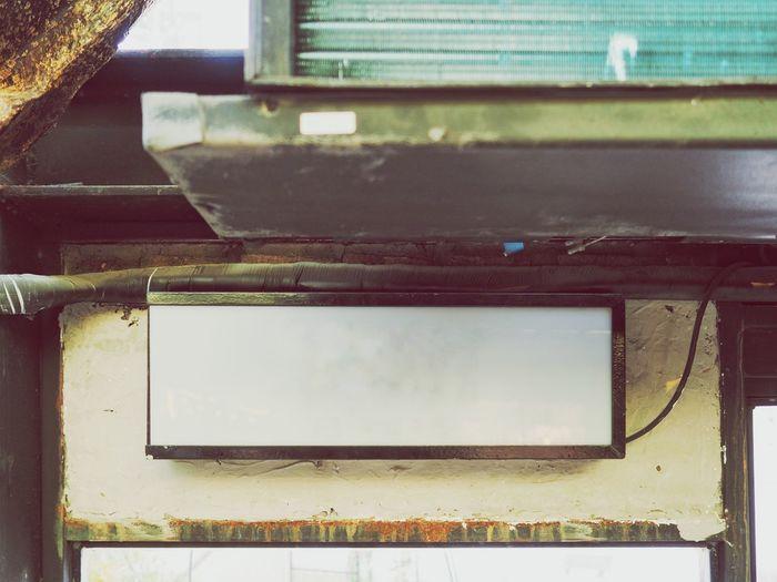 Close-up of rusty metal window
