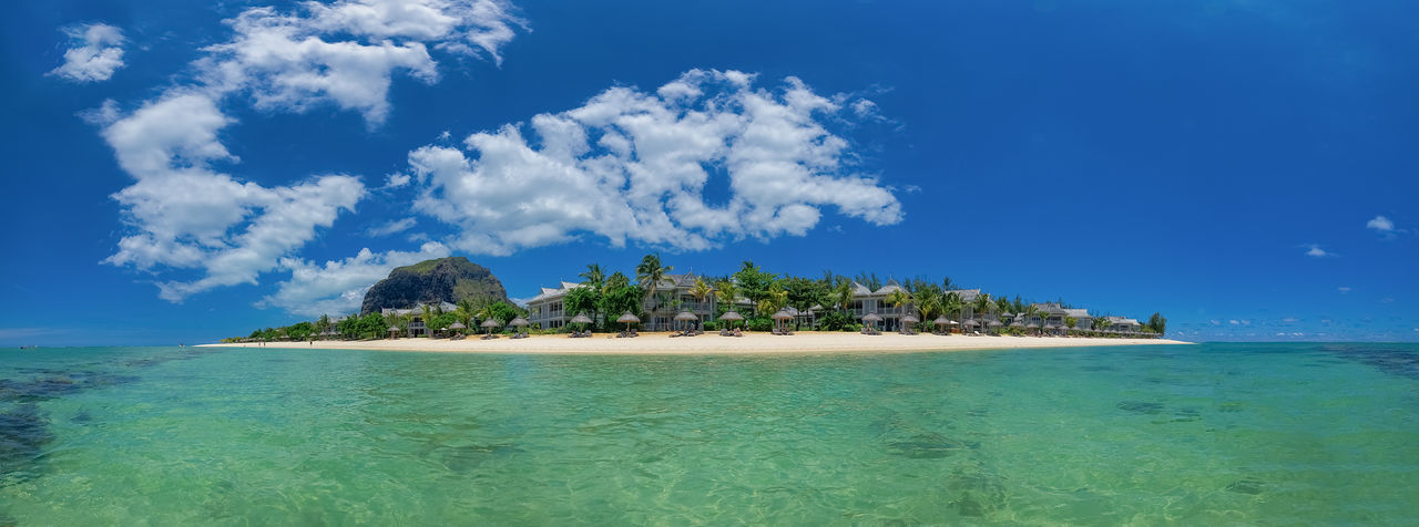 Beach Mauritius Holidays Ocean Island Paradies Joy Water Warm Clothing Summer Travel Beautiful Great Mountain Brabant Le Morne-Mauritius Tropical Climate Vacations Nature Holiday Beauty In Nature Cloud - Sky Sea Sky Tranquil Scene