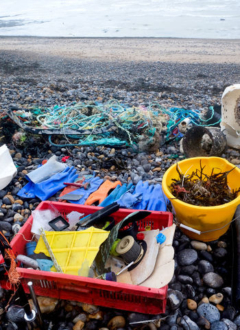 Beach Cleaning Single Use Plastic Plastic Waist Beach Day Land Garbage No People Outdoors Water Nature Sea High Angle View Environmental Issues Large Group Of Objects Container Plastic Garbage Dump Pollution Messy Fishing Environment Choice Junkyard Fishing Industry