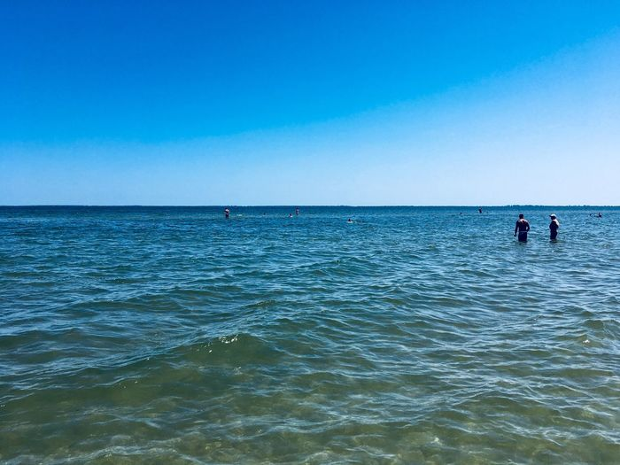 Water Sea Sky Scenics - Nature Beauty In Nature Blue Real People Horizon Over Water Leisure Activity Waterfront Lifestyles Horizon Two People Day Clear Sky Nature Outdoors Men People Child