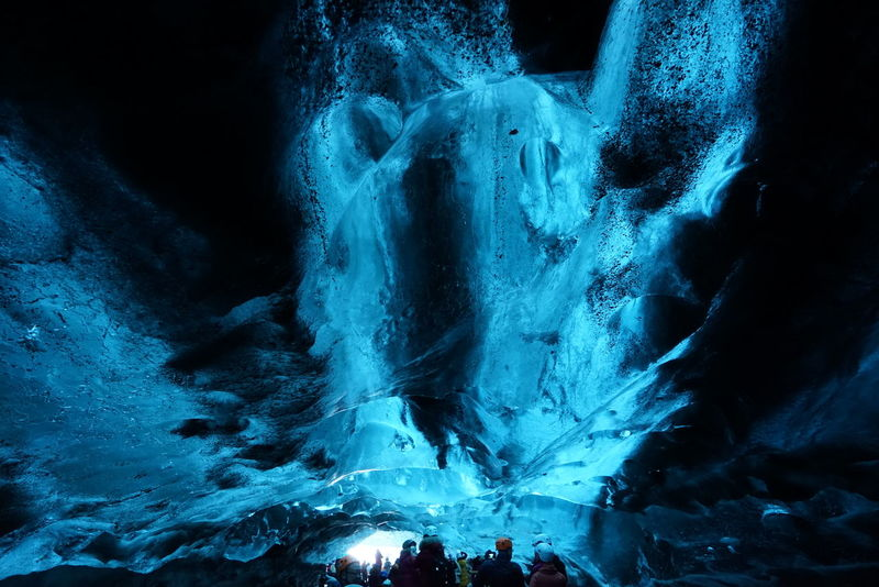 Been There. Beauty In Nature Blue Cave Clear Ice Close-up Iceland_collection Illuminated Indoors  Nature Night
