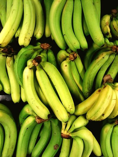 Full frame shot of bananas at market stall