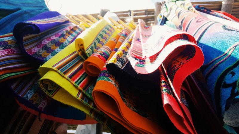 Textiles en una tienda de Ica-Perú Multi Colored Textile No People Day Indoors  Close-up Culture Peruvian People Peruvian Culture Ica Peru Pisco Nazca Lines Nazca Peru Textiledesign Colours Multicolors  Civilization And Culture