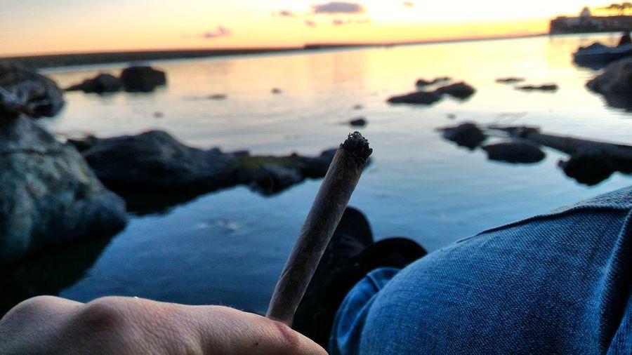 Pegli Joint Love Meraviglia Boombabyyy Relax Sea Genova Happy :) Ciaoproprio  Smoke Sunday Tramonto