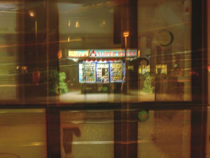 Reflection Illuminated No People Entrance Indoors  Horizontal Store Window Architecture Day Späti Kiosk Shop Blurred Motion Train Long Exposure