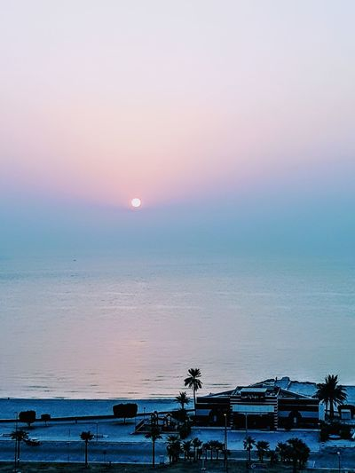Good morning my dear friends, Have a nice day 🙏🏻🙏🏻🤗 Water Sea Nautical Vessel Sunset Beach Blue Red Sunlight Pastel Colored Silhouette Calm Seascape Moored Coast Horizon Over Water Romantic Sky