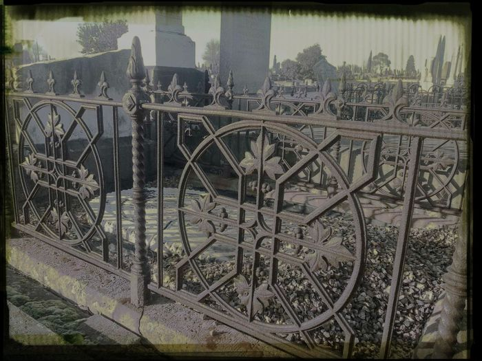 Lacework Fencing Cemetery Photography Beauty