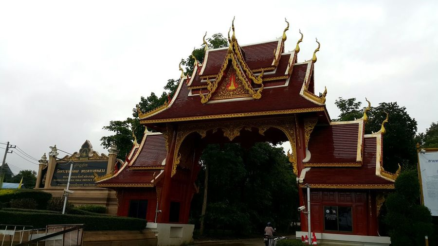 Religion Pagoda Architecture No People Sky Outdoors King - Royal Person Day วัดพระธาตุช่อแฮ
