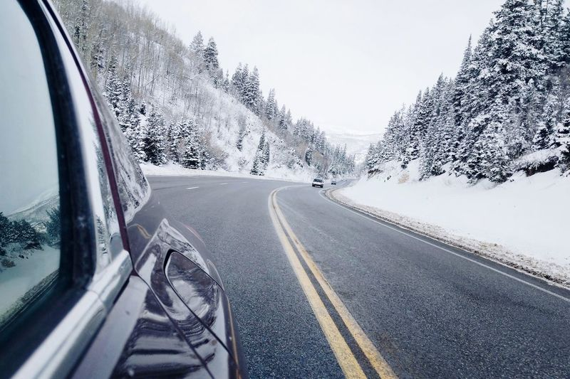 Shades Of Winter Road Snow Winter Car Road Trip Transportation Cold Temperature Outdoors Day Mountain