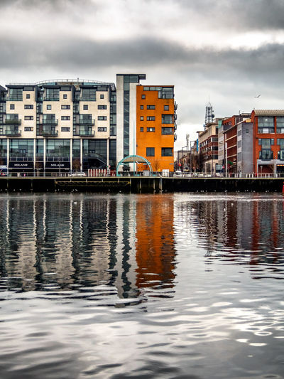 Howley's Quay 2 Limerick City Ireland Building Exterior Reflection Architecture Built Structure Cloud - Sky Sky City Outdoors Water Day No People Waterfront River Urban Skyline Cityscape Travel Destinations River Shannon Howley's Quay
