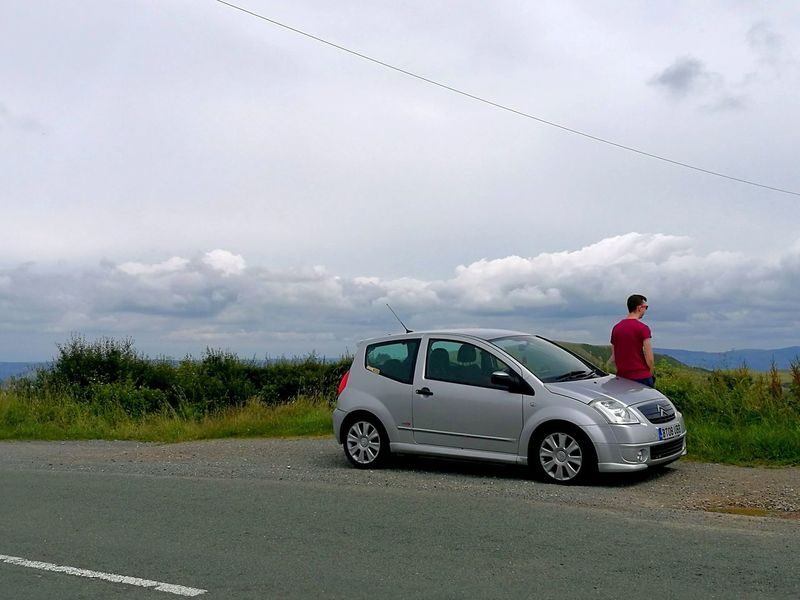 In the heavens Hanging Out Taking Photos That's Me Relaxing Car Mountain Mountains View From Above Viewpoint Heaven Clouds And Sky Citroen C2 Vts
