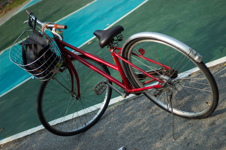 Tilt shot of bicycle