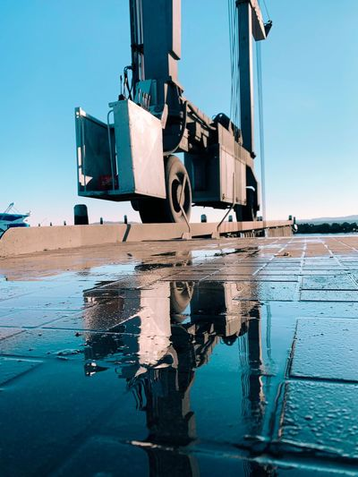 Reflection Water Sky Nature Transportation Reflection Sea Mode Of Transportation Day Clear Sky No People Outdoors Machinery Architecture Built Structure Industry Construction Machinery