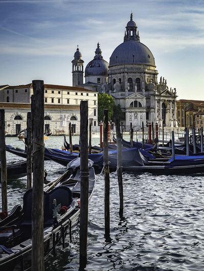 Architecture Belief Building Exterior Built Structure Canal Dome Gondola - Traditional Boat Mode Of Transportation Nautical Vessel No People Outdoors Place Of Worship Post Religion Sky Spirituality Transportation Travel Travel Destinations Water Wooden Post The Traveler - 2018 EyeEm Awards