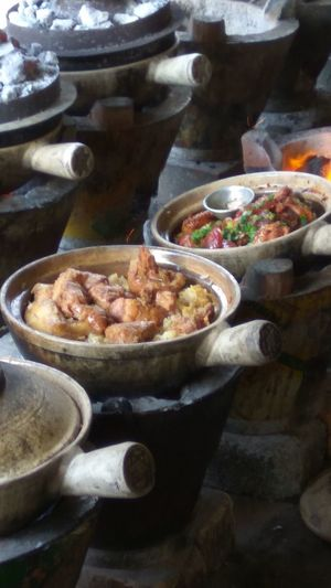 Claypot Chicken Rice Charcoal Fire Claypot Food Fresh Off The Flame Hungry Yet? Tradition Indoors  Healthy Eating Water Ready-to-eat Freshness Day