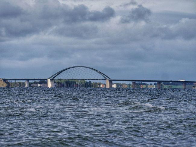 Fehmarnsundbrücke Bridge - Man Made Structure Built Structure Sea Outdoors Steel Architecture Nature Sky Seascape Cloud - Sky Beautiful Nature Perspectives On Nature