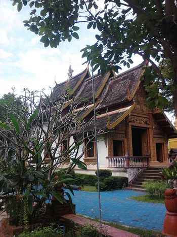 Wat Baan Tawai, Hang Dong, Chaing Mai. Architecture