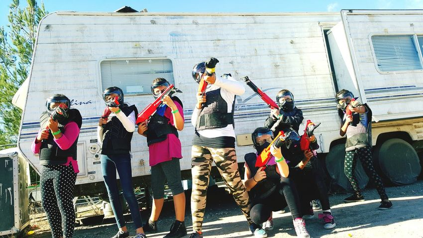Don't mess with this crew 💥💥💥💥 Paintballing Paintball Birthday Party Paintball Team