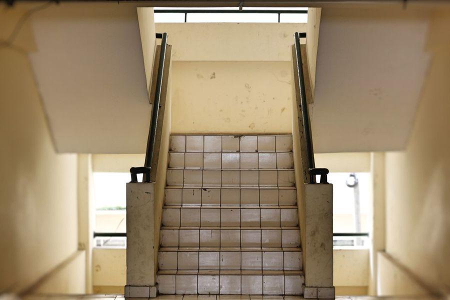 Rusun Marunda Stairs Stairway Apartment Stairs Apartment Stairwell Architecture Built Structure Day Emergency Exit Emergency Stairs Indoors  Marunda No People Rumah Susun Stairways