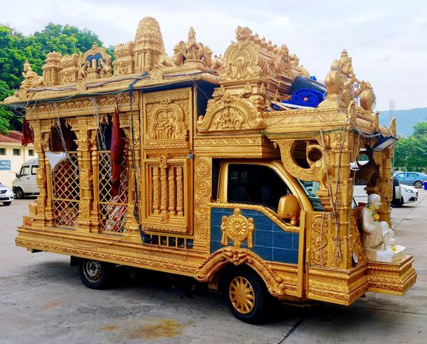 Hidden Gems  Modified Minitruck in Tirupati Tirumala a Popular Religious  Destination in South India Indian Automobile Tempo of India Golden Chariot Mobile Temple The Drive The Secret Spaces