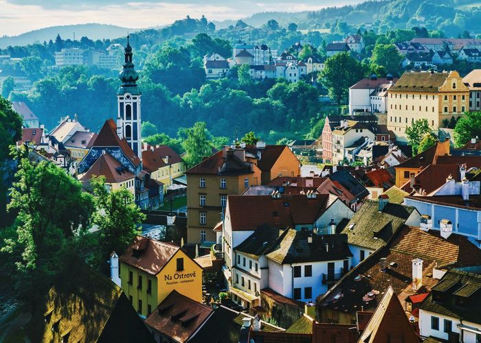 The morning of CK town From My Point Of View My Street Photography My Traveling Photography Traveling Travel Photography Morning Picture Czech Republic CK Town Roof Architecture Old Town No People Cityscape Castle Have A Nice Day♥ Peace And Quiet