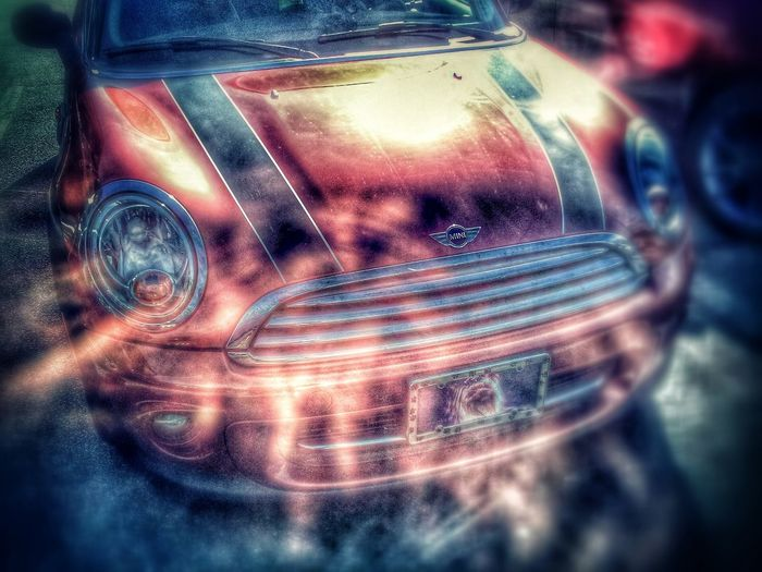 Super Mini Cooper. Cars Colorful Edit Junkie Graveyard Shift