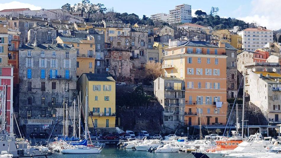 le vieux port de Bastia Port Beautiful Day Beauty In Nature Beautiful Nature Superbe Vue Corse Corsica Bateau île De Beauté Voilier Croisiere Mer Très Beau Temps Vue Outdoors Day No People City Architecture Cityscape Sky