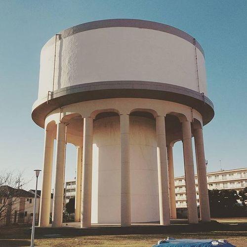 本日2つめの給水塔 給水塔 船橋高架給水塔