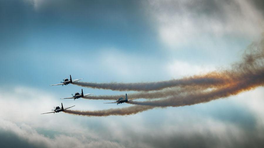 Airshow in sky