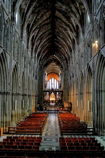 Worcester Cathedral Magnificent Architecture Ancient Building
