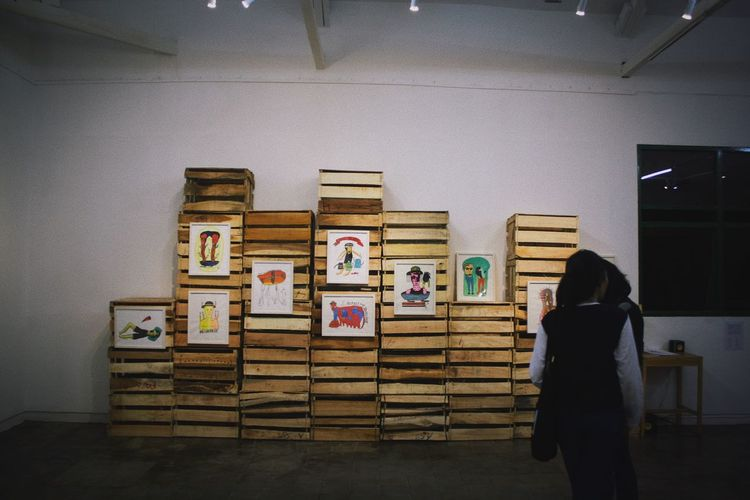 The eye Asian Culture ASIA Malaysia Jakarta Indonesia Jogjakarta Yogyakarta Craft Art Art And Craft Indoors  Standing Real People Human Representation One Person Women Rear View Education Museum Large Group Of Objects Learning Stack Multi Colored Men Architecture Student Day Young Adult People