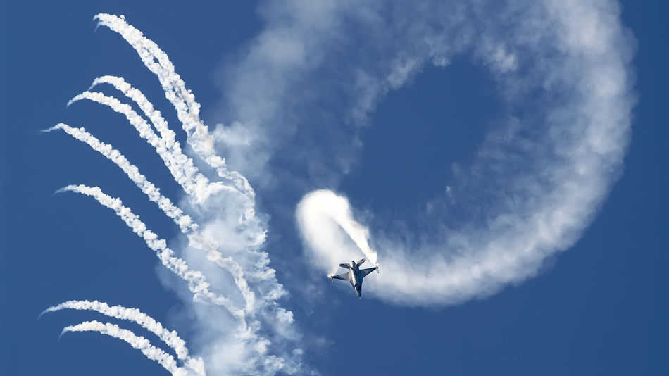 Acrobatic Activity Aerobatics Air Festival Airplane Flying Military Airplane