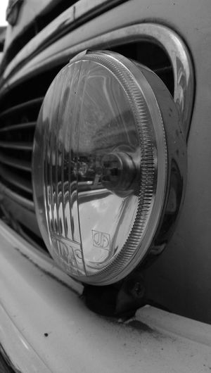 Headlights Morris Minor 1000 Black And White No Edit/no Filter