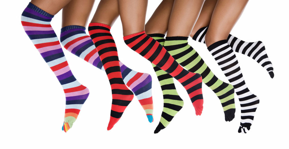 Close-up Day Human Leg Indoors  Low Section Multi Colored One Person People Real People Sock Studio Shot White Background Young Adult