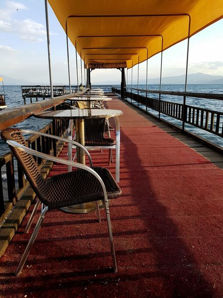 Struga Macedonia After Season Late Summer Empty Tourism Lake Lakeside No People Water Outdoors Day Paint The Town Yellow