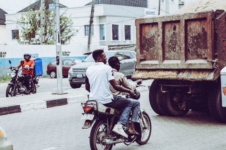 Morning EyeEm EyeEm Best Shots EyeEm Selects EyeEm Gallery EyeEmBestPics EyeEm City Men Childhood Bicycle Full Length Land Vehicle Boys Riding Scooter Togetherness Motor Scooter Humanity Meets Technology My Best Photo