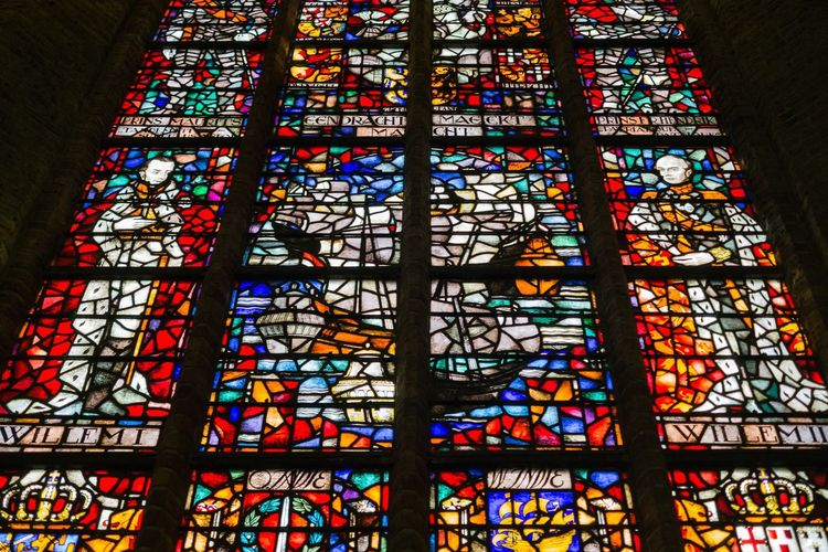 Stained Glass Multi Colored Low Angle View Pattern Place Of Worship Indoors  No People Built Structure Spirituality Day Architecture Close-up Architecture And Art Rose Window (null)Religious Architecture Religious  Believe Monument Peace Old The Netherlands Historical Building Old Town History