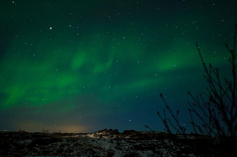 Northern lights above iceland