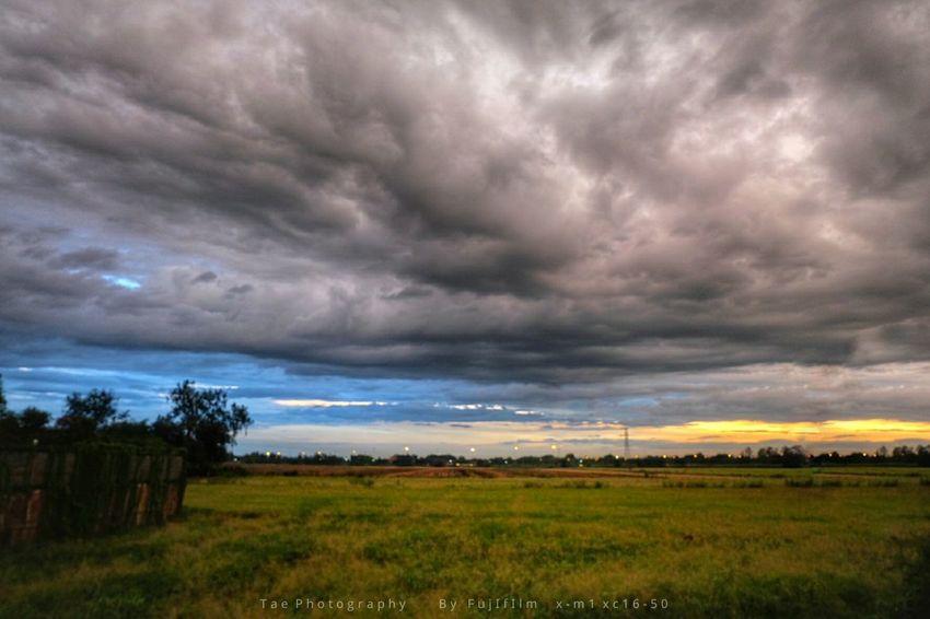 """ฟ้ า ห ลั ง ฝ น """" After the Storm """" EyeEm Best Shots Sunset Fujifilm X-m1 Freedom Enjoying Life Taking Photos Relaxing Sky Nature Sky And Clouds"""