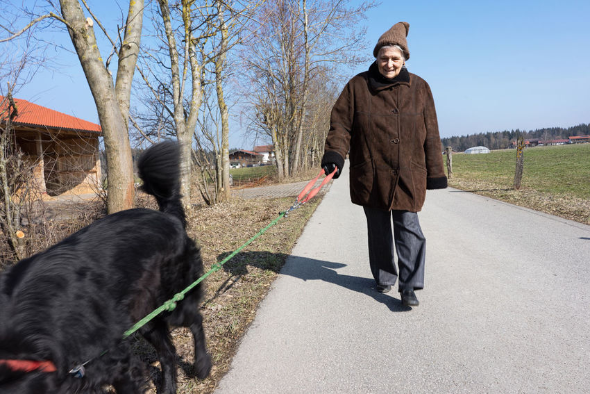 Dog Dogs Dogslife Dogstagram Dogtime Go Walkies Go With Dog Going Walkies Grandma Old Old People Old Woman Outside With Dog Retirement Senior Senior Woman Walkies Walking With Dog With Dog